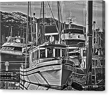 Canvas Print featuring the photograph A Small Wooden Fishing Boat by Timothy Latta