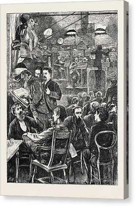 A Smoking Concert By The Wandering Minstrels Canvas Print