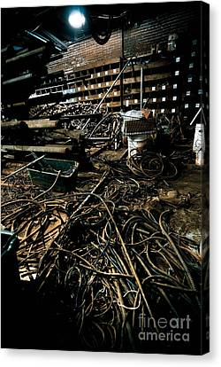 Wire Canvas Print - A Snake Pit Of Wires by Amy Cicconi