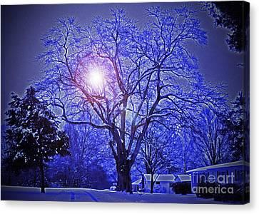 A Snow Glow Evening Canvas Print