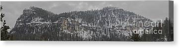 A Snowy Day In Spearfish Canyon Of South Dakota Canvas Print
