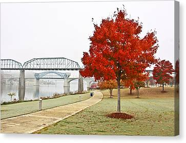 A Soft Autumn Day Canvas Print by Tom and Pat Cory