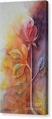 A Solitary Rose Canvas Print by Kathleen Pio
