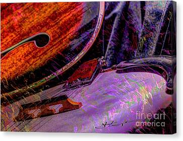 A Southern Combination Digital Banjo And Guitar Art By Steven Langston Canvas Print by Steven Lebron Langston