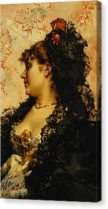 A Spanish Beauty Canvas Print by Frederik Hendrik Kaemmerer