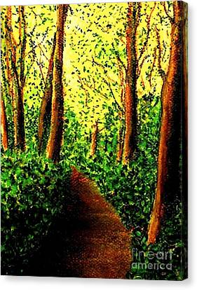 Canvas Print featuring the painting A Spiritual Awakening by Hazel Holland