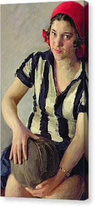 A Sportswoman Canvas Print