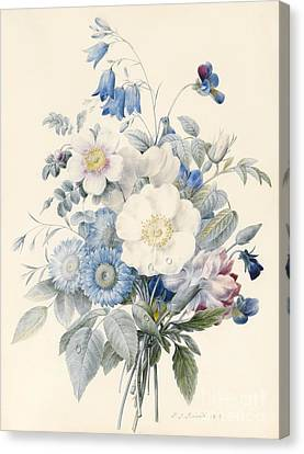 A Spray Of Summer Flowers Canvas Print