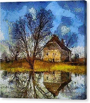 A Spring Flood Canvas Print by Dragica  Micki Fortuna