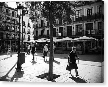 A Square In Toledo - Spain Canvas Print
