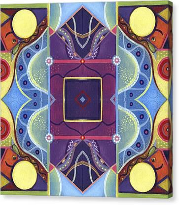 The Nature Center Canvas Print - A Square Mandala - The Joy Of Design Xl Arrangement by Helena Tiainen