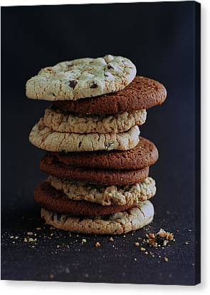 A Stack Of Cookies Canvas Print by Romulo Yanes