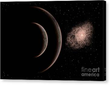 Cataclysm Canvas Print - A Star Going Nova by Mark Stevenson