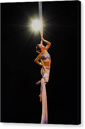a Star is born - the gymnast Canvas Print by Chris Flees