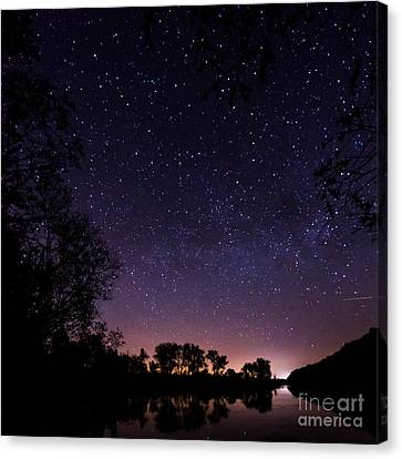a starry night at the Inn Canvas Print by Hannes Cmarits