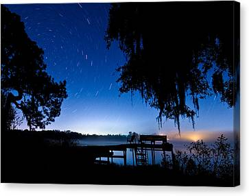 A Starry Night Canvas Print by Walter Arnold
