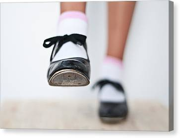 Old Tap Dance Shoes From Dance Academy - A Step Forward Tap Dance Canvas Print by Pedro Cardona