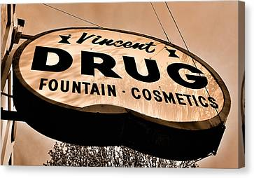 A Store For Everyone - Vintage Pharmacy Sign Canvas Print by Steven Milner