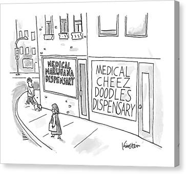 A Storefront Medical Marijuana Dispensary Canvas Print