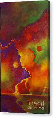 Canvas Print featuring the painting A Storm Called Jimi by Alison Caltrider