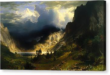 A Storm In The Rocky Mountains Canvas Print by Mountain Dreams