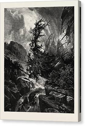 A Storm In Utah, Usa Canvas Print
