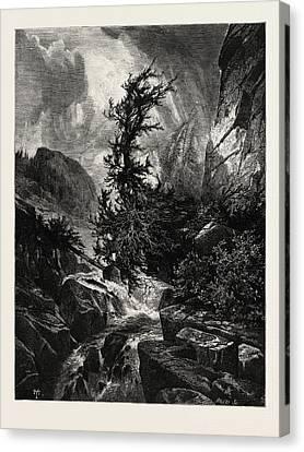 Thomas Moran Canvas Print - A Storm In Utah, Usa by English School