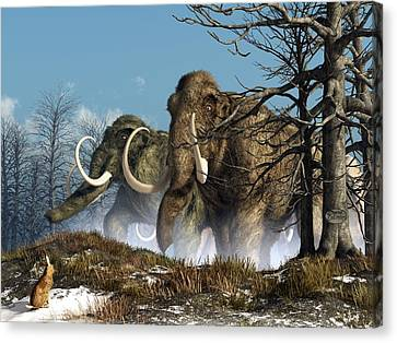 A Storm Of Mammoths  Canvas Print