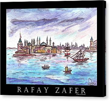 A Story Of Istanbul Canvas Print