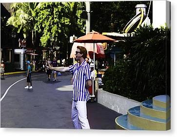 A Street Entertainer In The Hollywood Section Of The Universal Studios Canvas Print by Ashish Agarwal