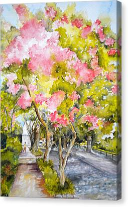 A Street In Charleston Canvas Print