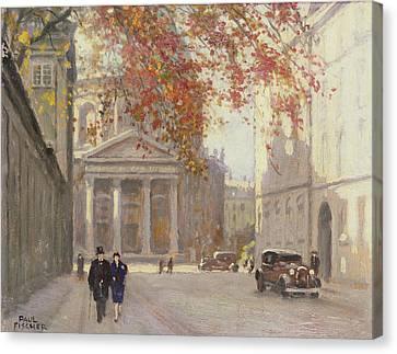 A Street In Copenhagen  Canvas Print by Paul Fischer