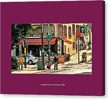 A Street In Frisco 2006 Canvas Print by Joseph Coulombe