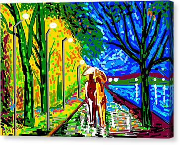 A Street Scene Canvas Print by Anand Swaroop Manchiraju