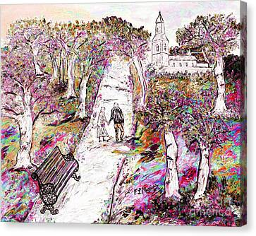 A Stroll In Autumn Canvas Print