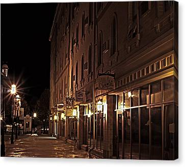 Canvas Print featuring the photograph A Stroll In The City by Deborah Klubertanz