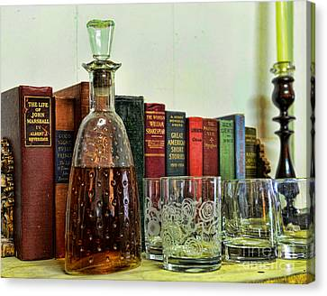 A Strong Drink And A Good Book Canvas Print by Paul Ward