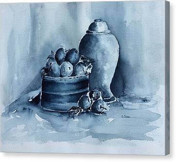 A Study In Blue Canvas Print by Stephanie Sodel