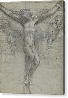 A Study Of Christ On The Cross With Two Canvas Print by Federico Fiori Barocci or Baroccio