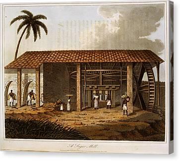 A Sugar Mill Canvas Print by British Library