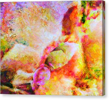 Canvas Print featuring the painting A Summer Afternoon Love by Joe Misrasi