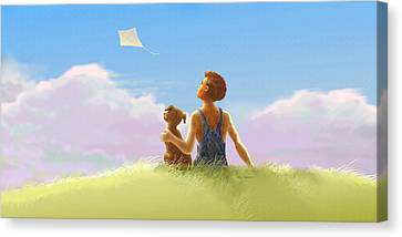 A Summer Breeze Canvas Print by Nate Owens