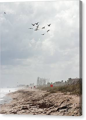 Michelle Canvas Print - A Summer Day At Delray Beach Florida by Michelle Wiarda-Constantine