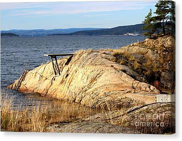 A Summer Day By The Oslo Fjord Canvas Print