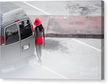 A Summer Splash Of Red  Canvas Print by Rene Triay Photography