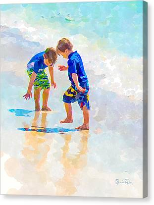A Hot Summer Day Canvas Print - A Summer To Remember Iv by Susan Molnar