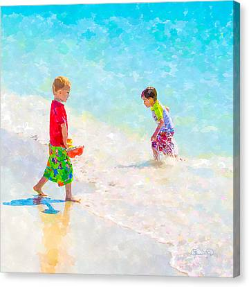 A Hot Summer Day Canvas Print - A Summer To Remember V by Susan Molnar