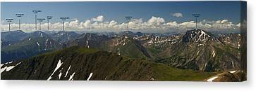 A Summit View Panorama Text Canvas Print
