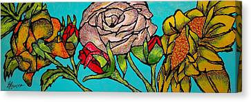 A Sun Among Roses Canvas Print by Guadalupe Herrera