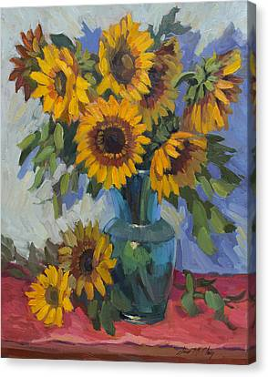 A Sunflower Day Canvas Print by Diane McClary